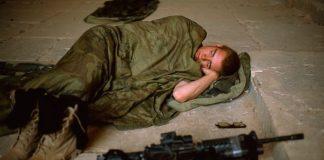 soldato che dorme