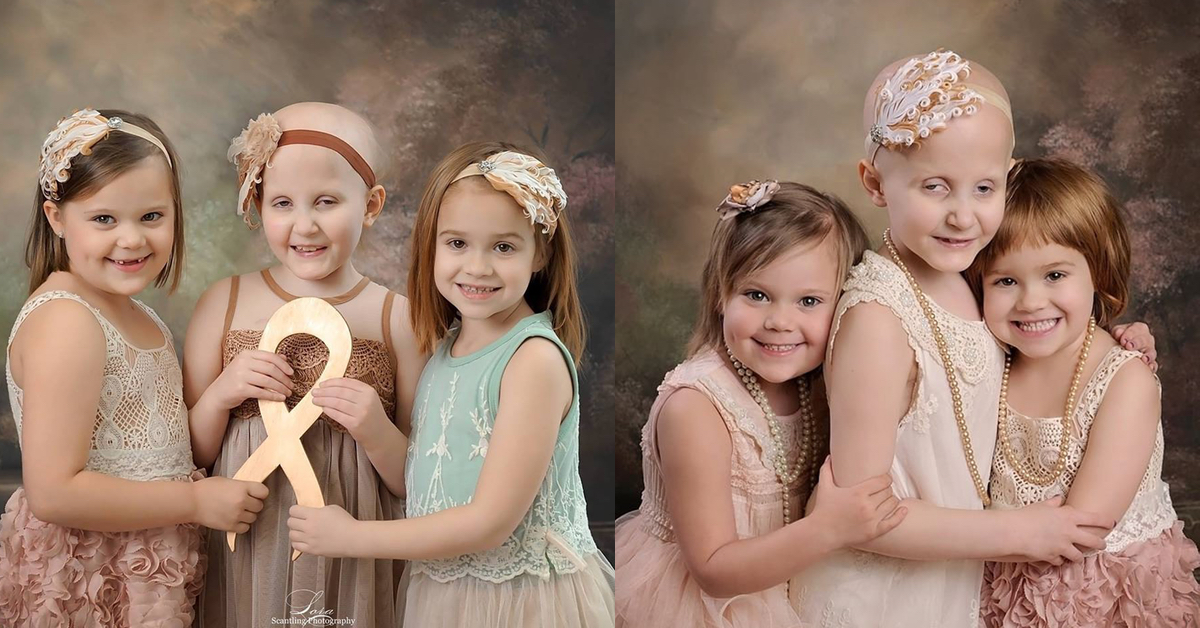 Risultati immagini per tre bimbe malate di cancro