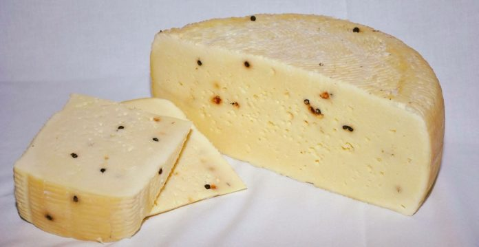 formaggio di pecora al pepe nero
